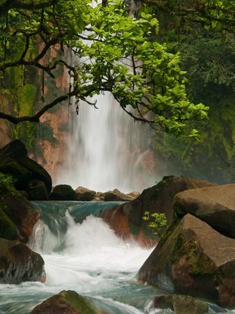 fantastic: Celestial blue waterfall in Costa Rica