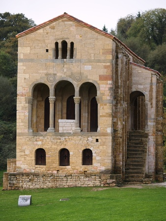 patrimony: The church of St Mary at Mount Naranco is a Roman Catholic Asturian pre-Romanesque Asturian architecture church on the slope of Mount Naranco situated 3 km from Oviedo, northern Spain. Ramiro I of Asturias ordered it to be built as a royal palace as part