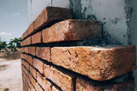 Construction of a brick wall