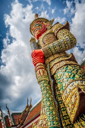 the Giant statue in Wat Phra Kaew