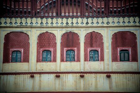 building detail of City Palace in  jaipur 免版税图像