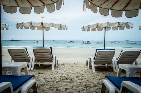 Mattress on the beach in Koh Samet Editorial