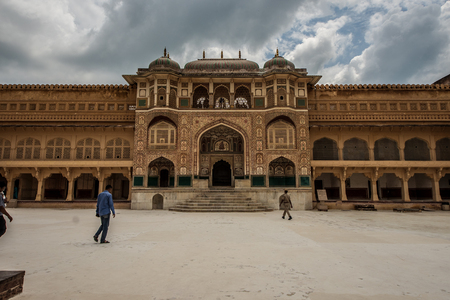 Touristenziel Amber Palace in Jaipur