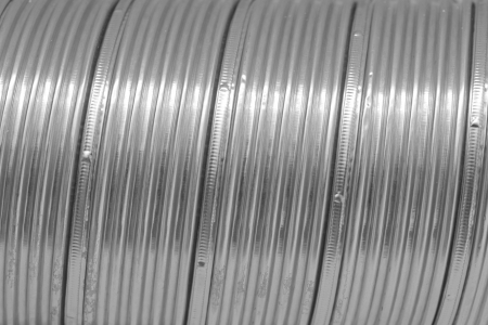 vent: Sliny metal pipe closeup background