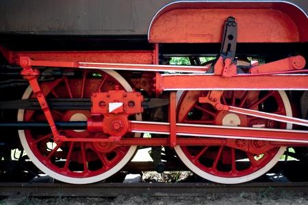 Steam train wheel photo