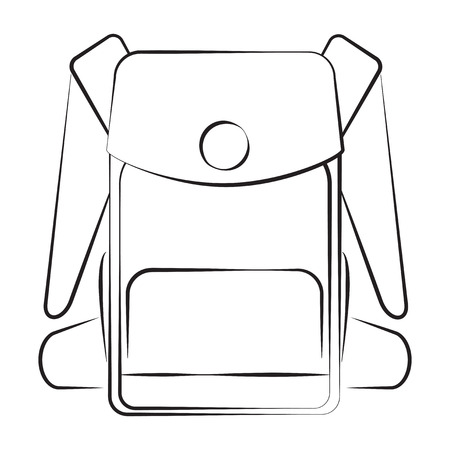 Monochrome silhouette of backpack icon