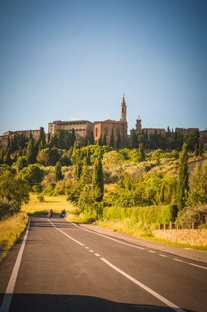 Old Tuscan town on the hills, Italy photo