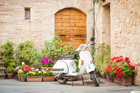 One of the most popular transport in Italy, vintage Vespa Фото со стока