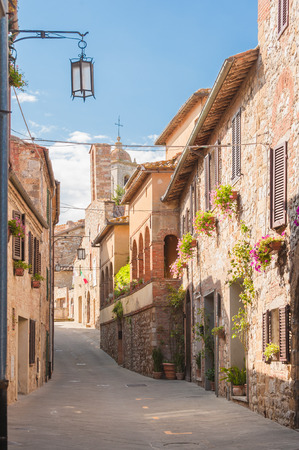 The medieval old town in Tuscany, Italy Archivio Fotografico