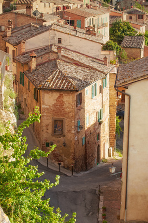 montepulciano: Old streets in the Tuscan town of Montepulciano, Italy