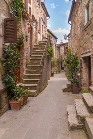 Nooks and crannies in the Tuscan town, Italy photo