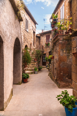 Nooks and crannies in the Tuscan town, Italy