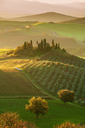 The beautiful Tuscan countryside around San Quirico d