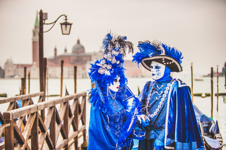 one of a kind: Venetian carnival, masquerade one of a kind in the world. Stock Photo