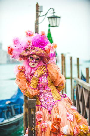 Venetian carnival, masquerade one of a kind in the world. Фото со стока