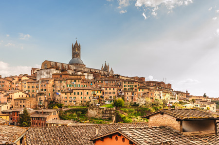 siena italy: The medieval city of Siena in southern Tuscany, Italy