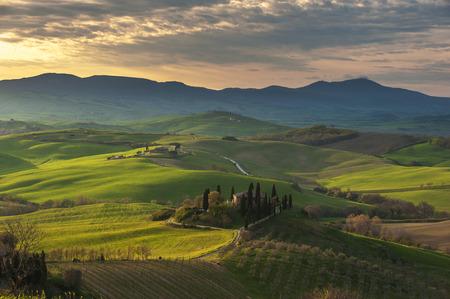 Beautiful image of the Tuscany countryside