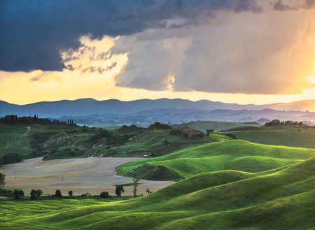 beautiful scenery: Beautifully illuminated landscape of Tuscany