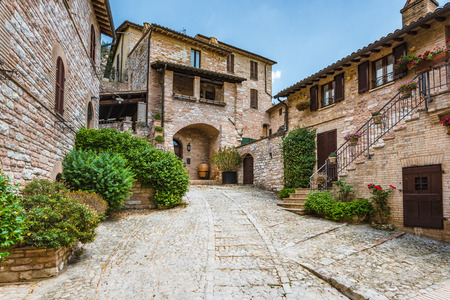 spello: The winding streets and crannies in Spello, Italy