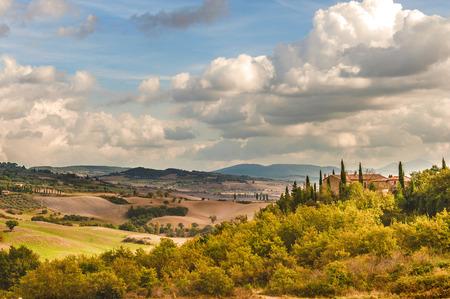 landschap: Schilderachtige landschap van Toscane, Italië Stockfoto