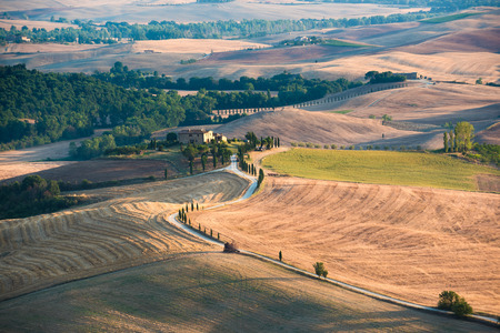 italy landscape: Italy landscape in Tuscany Stock Photo