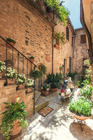 dreams of city: City of dreams in beautiful colorful day, Spello in Italy