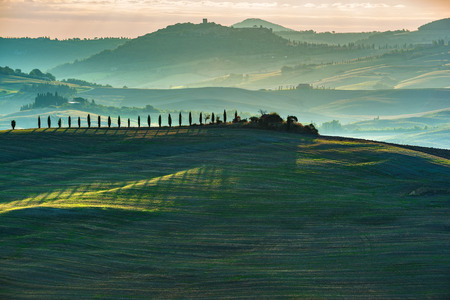 italian landscape: Green landscape of the Italian countryside Stock Photo