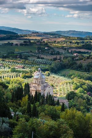 montepulciano: Tuscany seen from the walls of Montepulciano, Italy Stock Photo