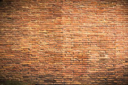 red clay: Fantastic brick wall of red clay bricks as a background Stock Photo
