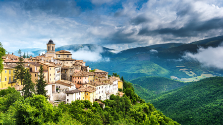 majestic: Abeto small town with beautiful views of the mountains and gorges in Umbria, Italy