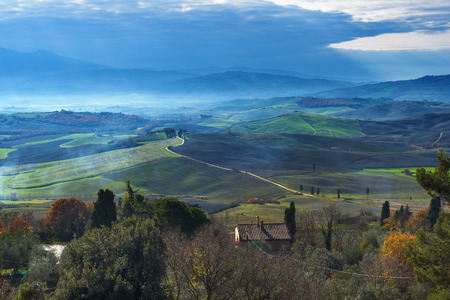 italian landscape: View on the beautiful Italian landscape.
