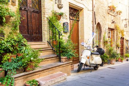 Tuscany Village Street Фото со стока