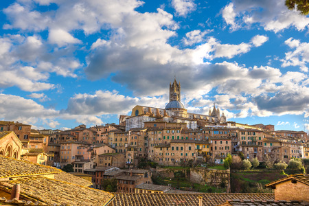 Old Town Mediterranean in sunny Tuscany, Siena