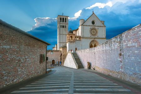 st  francis: Basilica of St. Francis of Assisi in Umbria, Italy