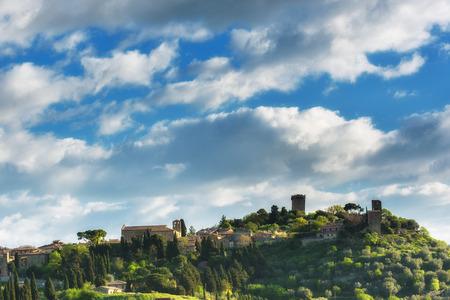 mediaval: Monticchiello mediaval town in Italy