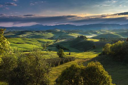 agriturismo: Tuscan hills and spring landscape.