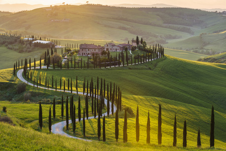 italian landscape: Panoramic view of a spring day in the Italian rural landscape.