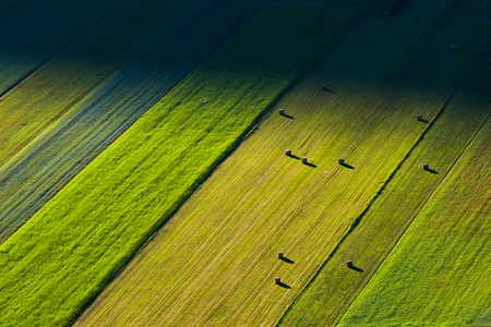 air view: Air view of the landscape of Umbria, Italy Stock Photo