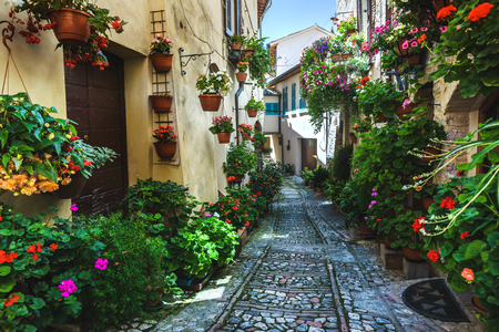 spello: Spello and its nooks and streets of the beautiful Italian towns in Italy.
