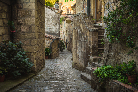 Unearthly streets and crannies in the Tuscan village