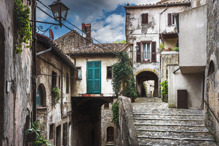 urban idyll: Alleys in a small town in southern Tuscany.