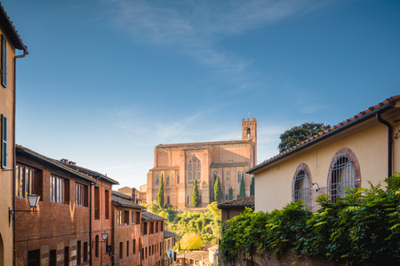 Magical place in a medieval fairy tale, Siena in Tuscany.