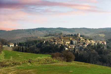 Hidden somewhere out of town in Tuscany, San Casciano dei Bagni.