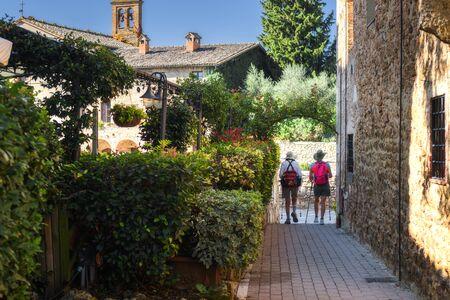 Toscaans warmwaterbronbad in Bagno Vignoni