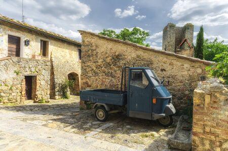 Traveling around Tuscany and Italian medieval towns, Monteriggioni Siena