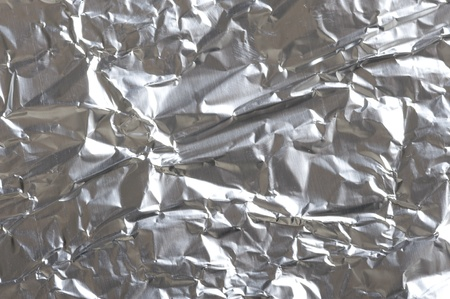 Aluminum Foil Background. Metallic Texture  photo