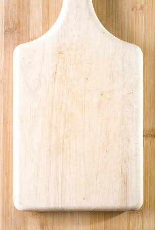 Well used chopping board
