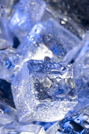 luster: Background with blue ice. Creative coold abstract