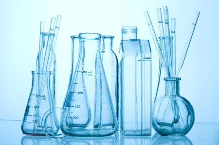 retort: Chemical Test Tube . Medical experiment with Laboratory glass
