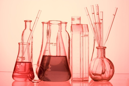 Chemical Test Tube . Medical experiment with Laboratory glass   photo